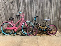 Pink bike and Monster High bike