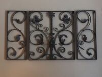 WROUGHT IRON 3 PIECE WALL HANGING WITH CANDLE HOLDER Sarasota, 34233