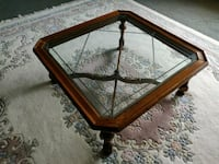 Glass-Top Coffee Table Solid Wood La Center, 98629