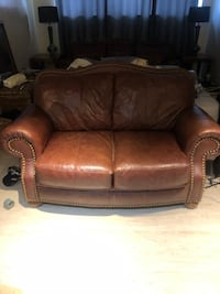 Leather sofa and love seat in good condition