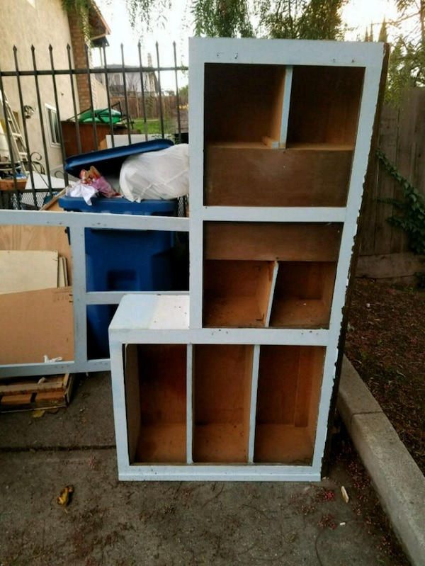 Used brown wooden 6-cube organizer for sale in Antioch - letgo