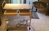 esthetics trolly with attached rotatable tray     TORONTO