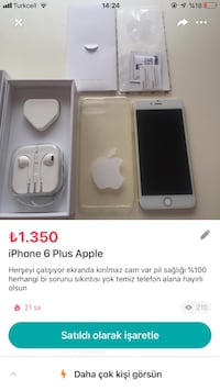 6 plus iPhone 6 plus Etimesgut, 06794
