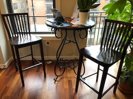3 piece bistro dining table and chairs