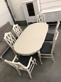 French Provincial Dining Table & 6 Chairs