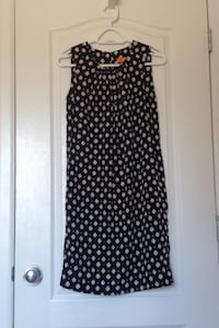 Black and white polka dot sleeveless dress Mission, V2V 7B5