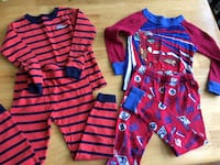 Two WINTER pairs of PJs for boys  Red Oak, 27856