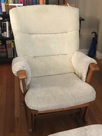 Incredible deal!!  Price reduced!!  Cream color glider nursing chair and ottoman. Incredibly comfortable!! 2277 mi