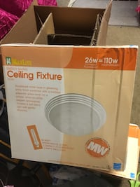 maxlite ceiling fixture wall mount lighting. Lights included. Brand new. 2 available. $10 each. Pickup in Santa Ana.  Santa Ana, 92706
