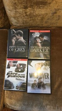 Four assorted dvd movie cases Winnipeg, R3G 1T2