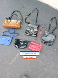two gray and black leather bags O'Fallon, 63366