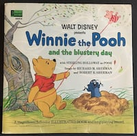 Disney Winnie the Pooh and the Blustery Day Vinyl LP Record & Book