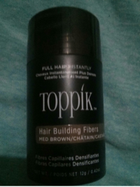 USED ONCE MEDIUM BROWN .42oz/12g Hair building fibre null