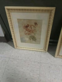 brown wooden framed painting of white flower Passaic, 07055