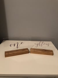 Acrylic & Wood Table Numbers