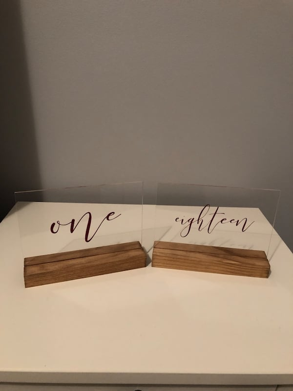 Acrylic & Wood Table Numbers b1cd63f0-8676-49e3-bd69-78d8db5126b5