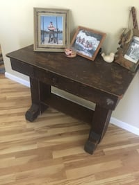 brown wooden table with drawer Woodland
