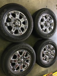 "Ford F150 18"" OEM Chrome Wheels and Goodyear Tires, Set of 4 Sunnyvale, 94089"