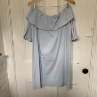 Off shoulder pale blue shirt dress Toronto, M6J 2J7