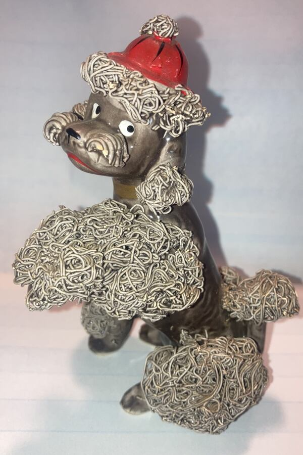 Vintage Spaghetti Poodle Red Cap  Ceramic.    $15. 9b5c5a44-a2dc-44ed-a151-47aadf34db2d