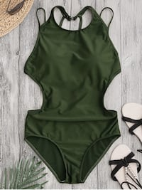 NWT Green Zaful Cutout One-Piece Bikini Vancouver, V5Y