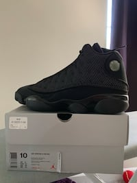 unpaired black Air Jordan 13 shoe with box Frederick, 21703