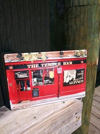 """Temple Bar"" Tin Wall Decoration 8x12 Montgomery Village, 20886"