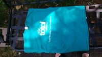 teal and white crew-neck shirt Rogers, 72758