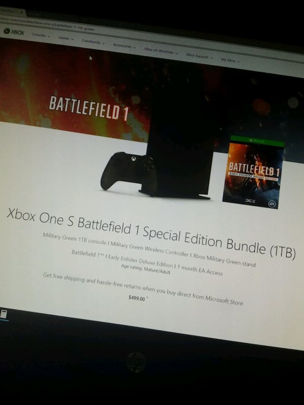 Xbox one s battlefield 1 special edition 61ef450e-8879-4ab5-95e1-183a67793a12
