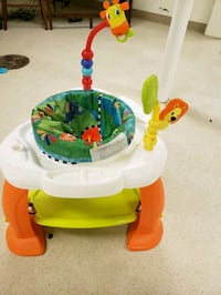 baby's white and green activity center 3248 mi
