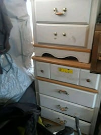 White 2 piece dresser and night stand  Oildale, 93308