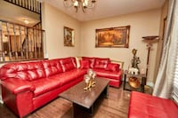 Red leather sectional Vaughan, L4L 8S9