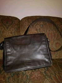 """15"""" Leather bag for laptop and office tools"""