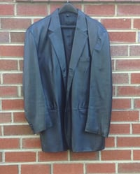 Men's J. Ferrar Black Leather Jacket Blazer Size L Hyattsville, 20783