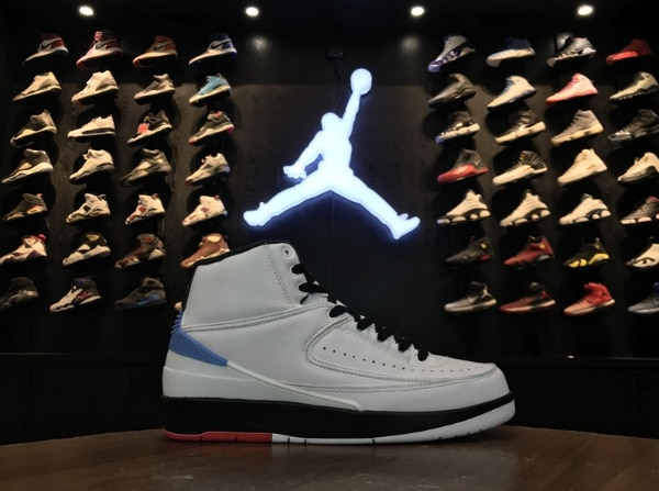 "04ec6de8c7f087 Air Jordan 2 ""Alumni"" White Varsity Red-Black-University Blue For Sale"
