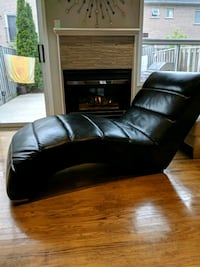 black leather sectional sofa with ottoman Vaughan, L6A 2K9