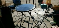 round black metal table with two chairs Des Moines, 50317