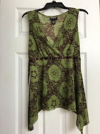 Green and black floral sleeveless shirt Frederick, 21702