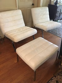 Beautiful white leather heavy chrome chairs Kenner, 70065