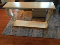 Sofa table, antique white. Good condition