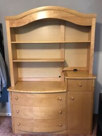 Solid maple dresser. No damage at all.  Alexandria, 22309