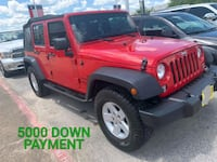 2017 - Jeep - Wrangler with 5000 of down payment  Houston