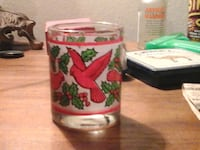 Cardinal Holly Candle Glass Holder Duncannon