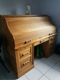 brown wooden roll-top desk Edmonton
