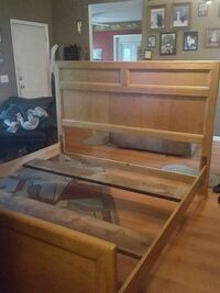 Nice  wood king size bed frame. Got 2 go moving! Wilmington, 28412
