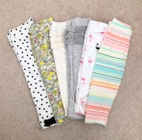 6 pairs baby girl leggings size 3-6 months- worn only once Mississauga, L5M 0C5