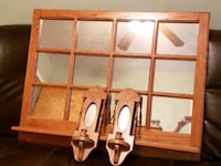 Solid wood mirror with matching sconces Peoria, 61604