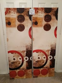 2 canvas $20.00 for both