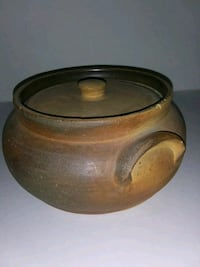 Pottery Clay Pot Bowl 9 x 4.5 inches