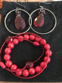 Red stone Earrings & Bracelets  Methuen, 01844